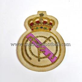 Escudo de tela bordado del Real Madrid CF, circa 1950