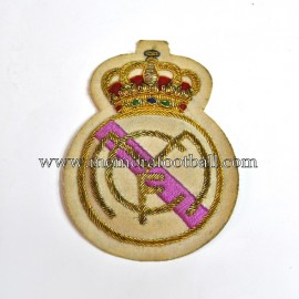 Real Madrid CF embroidery fabric shield, circa 1950