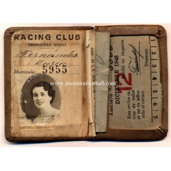 1940s Racing Club (Argentina) membership card