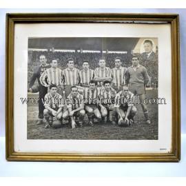 Fotografía enmarcada del Real Gijón 1951-52 firmada