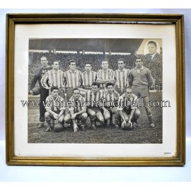 Real Gijón 1951-52 signed and framed