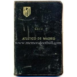 Carnet de socio Atlético de Madrid de José María Gutierrez del Castillo, 1940