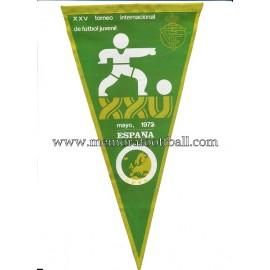 Banderín XXV Torneo Internacional de Fútbol Juvenil, España 1972