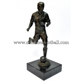A spelter figure of a footballer 1920-30 Germany