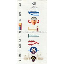 Programa FC Shinnik Yaroslavl v Valencia CF 1998 Copa Intertoto