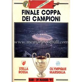Programa Oficial Final Copa de Europa de Clubes 1991