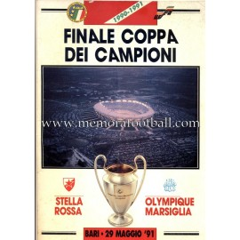 UEFA Champions League Final 1991 Official Programme