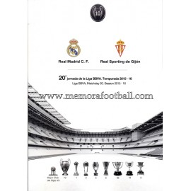 Real Madrid CF vs Sporting de Gijón LFP 2015-2016