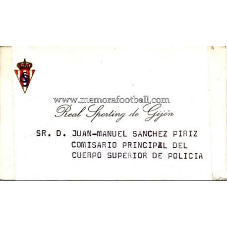 Sporting de Gijón 1970s visiting card