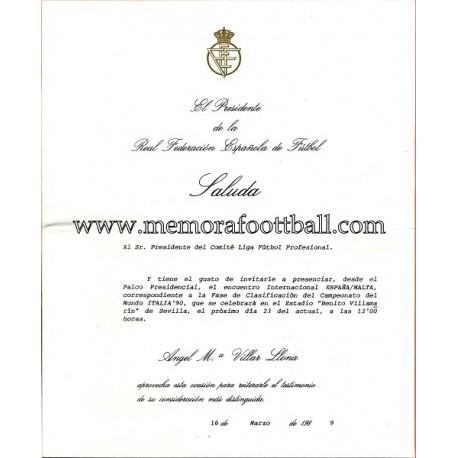 Real Federación Española de Futbol 16-03-1989 document