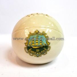 Balón de porcelana con escudo grabado de Minehead