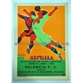 Valencia FC vs Selección de la Escuadra Inglesa 1929