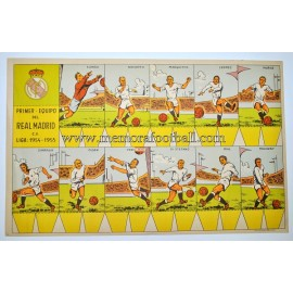 Real Madrid C.F 1954-55 Recortable cardboard sheet