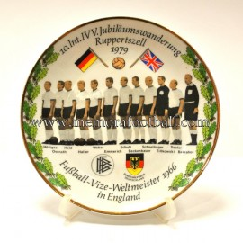 """Fussball VizeWeltmeister 1966 in England"" plate"