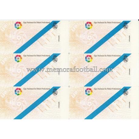1900s Spanish Football League tickets