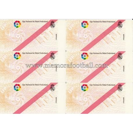 1900s Real Madrid CF Spanish Football League tickets