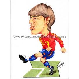 """Caricatura de """"DAVID VILLA"""" Selección Española, original de Salas"""