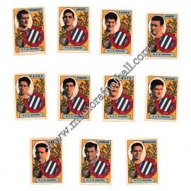 11 Cromos RCD Español  1954-55 equipo completo