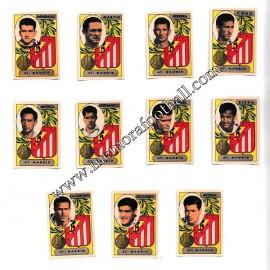 11 Cromos Atlético de Madrid 1954-55 equipo completo