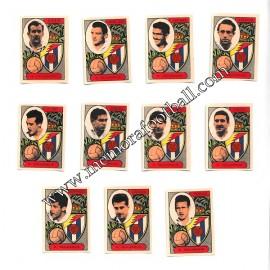 11 Cromos Real Valladolid 1954-55 equipo completo