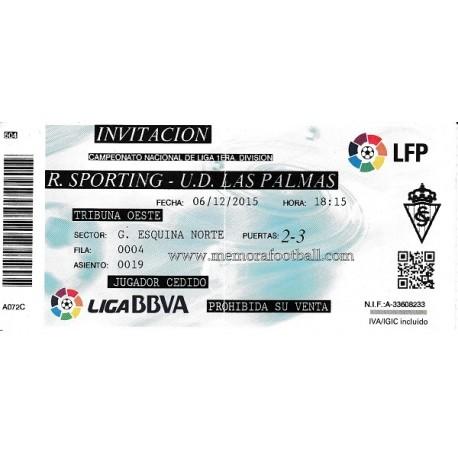 Entrada Sporting de Gijón v lLas Palmas LFP 06/12/2015