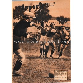 """BLANCO Y NEGRO"" Spanish magazine 1935 Female Football Sheet"