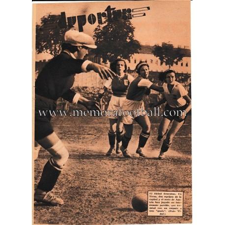 """Lámina de la revista """"BLANCO Y NEGRO 1935 Fútbol Femenino"""