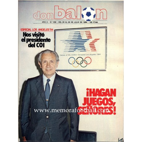 DON BALON (Spanish football magazine) 24-30 July 1984