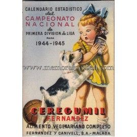 Spanish League 1ª Division 1944-1945 football calendar