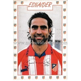 "Tarjeta postal de ""ESNAIDER"" Atlético de Madrid 1996"