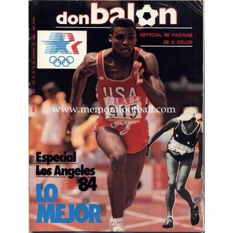 DON BALON (Spanish football magazine) nº 463 21th-27th August 1984