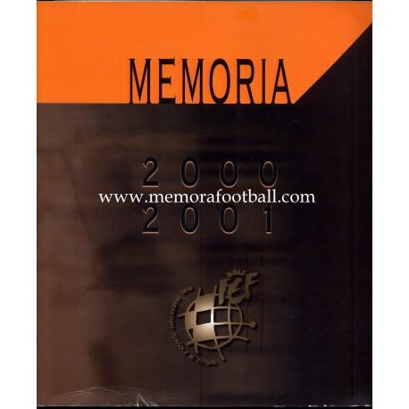Spanish FA (RFEF) 2000/2001 annual report