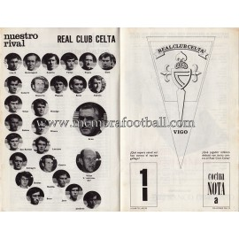 Programa del partido Athletic Club vs Real Club Celta 03-10-71