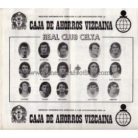 Programa del partido Athletic Club vs Real Club Celta  1974/1975
