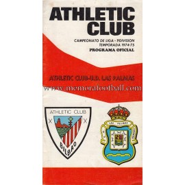 Athletic Club vs UD Las Palmas 1974-1975 programa oficial