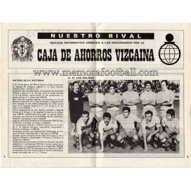 Athletic Club vs UD Las Palmas 1973-1974 official programme