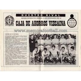Athletic Club vs UD Las Palmas 1973-1974 programa oficial