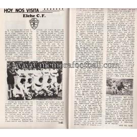 Athletic Club vs Elche CF 15/12/1974 official programme