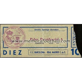 Real Madrid vs FC Barcelona 30-01-1977 Spanish League ticket