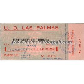 Entrada UD Las Palmas vs Real Madrid 29-03-1986 Liga Española