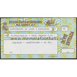 Real Madrid vs Real Valladolid 22-05-1988 LFP ticket