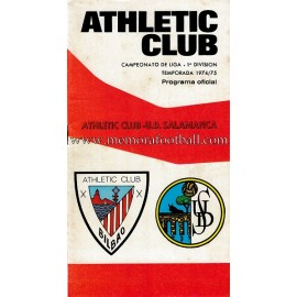 Programa del partido Athletic Club vs UD Salamanca 1974/1975