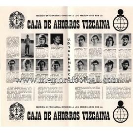 Athletic Club vs UD Salamanca 1974/1975 official programme