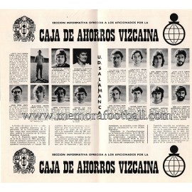Programa del partido Athletic Club vs UD Salamanca 1974/1975