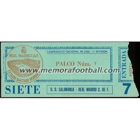Real Madrid CF vs UD Salamanca 07-12-1980 ticket