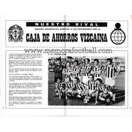 Athletic Club vs CD Castellón 1973-1974 official programme