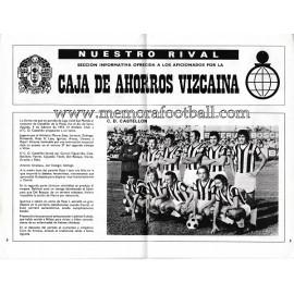 Programa del partido Athletic Club vs CD Castellón 1973-1974