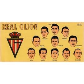 Cromo Real Gijón 1953-1954