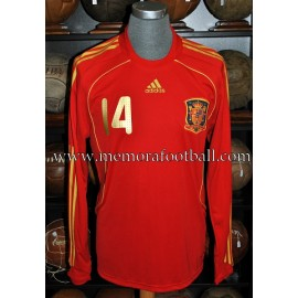 XABI ALONSO nº14 Spain National Team 2008 match un worn shirt