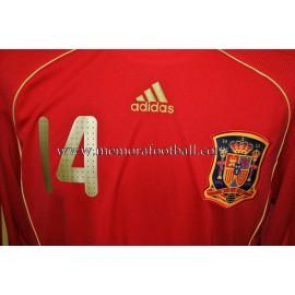XABI ALONSO nº14 Spain National Team 2008 match un worn shirt